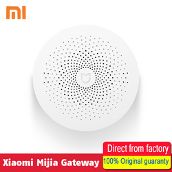 New Gateway 2 Original Xiaomi Mijia Smart Home Kits Gateway Alarm System Control Radio Yi Camers Mi Door Sensor Bell Temperature