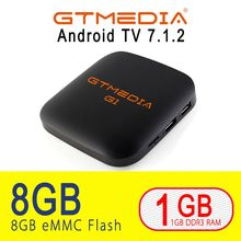цена GTmedia G1 TV Box Media Player 1GB RAM 8GB ROM S905W Android 7.1 Remote Control 4K 2K HD 2.4G Built In Wifi Set Top Boxes IPTV в интернет-магазинах