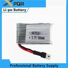 Batterie de LiPo pour Drone Hubsan, 3.7V, 380mAh, pour Hubsan H107 H107C Syma X11 X11C H107L, U816, U816A, V252, Walkera Super Genius, CP Mini, JXD385