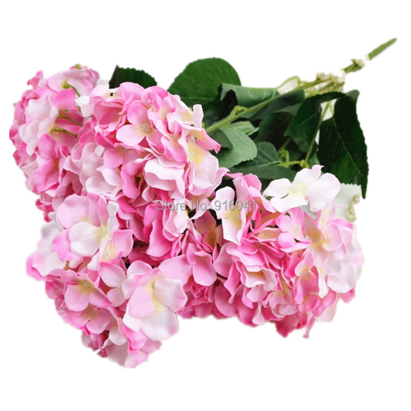 Wholesale 100pcs 6 heads bunch display flower hydrangea artificial wholesale 100pcs 6 heads bunch display flower hydrangea artificial flower wedding party hotel event silk flower free shipping mightylinksfo