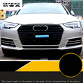 4 pcs Abs chrome car front fog lamps cover grille slats car fog lights cover decoration strips for Audi 2017 A4 B8 car styling