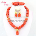 Nigerian African Wedding Beads Jewelry Set  Coral Beads Necklace Set Bracelet Earrings African beads Jewelry Set   E1188
