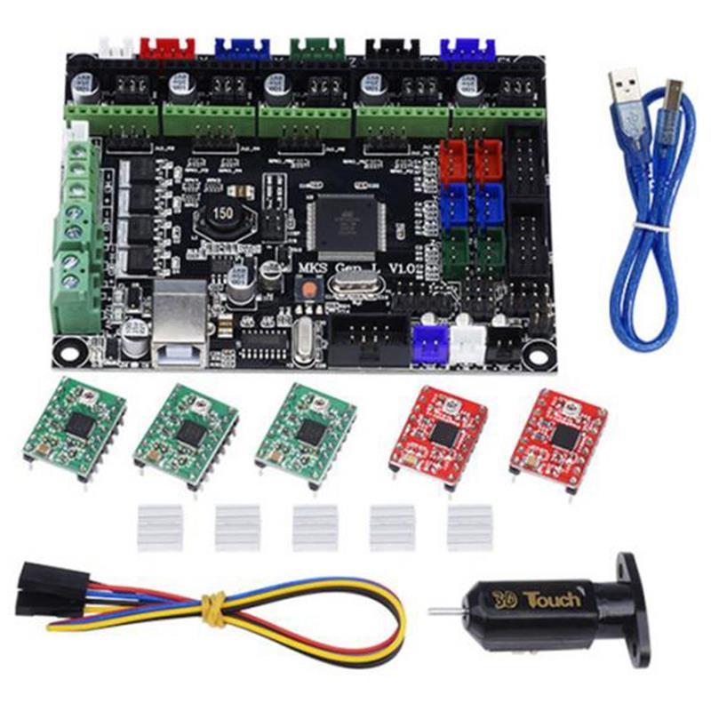 Carte mère Makerbase Mks Gen L avec 5 pièces Drv A4988 pilote + 3D Touches ensemble de modules pour imprimante 3D Qjy99