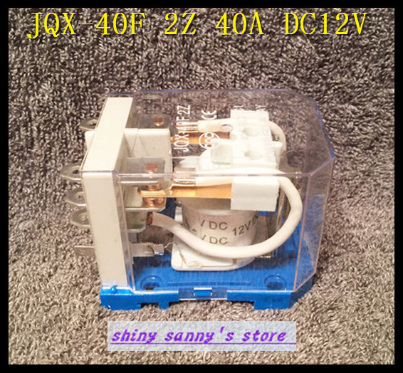 1Piece JQX-40F 2Z 40A DC 12V Coil PCB Power Relay Brand New 2015 new arrival 12v 12volt 40a auto automotive relay socket 40 amp relay