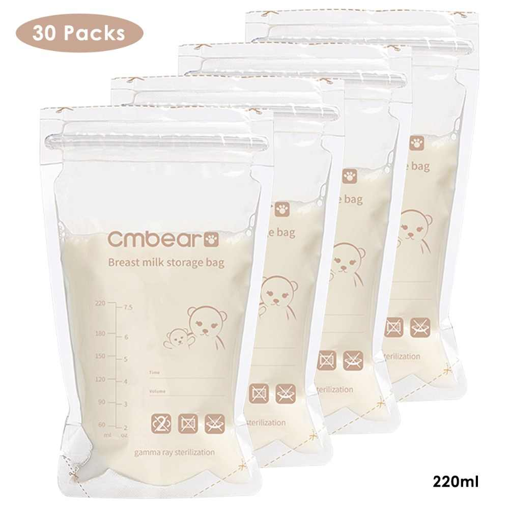 Breast milk storage bag 30 pieces/bag Baby Food Storage 220ml Disposable Practical and convenient breast milk Freezer Bags