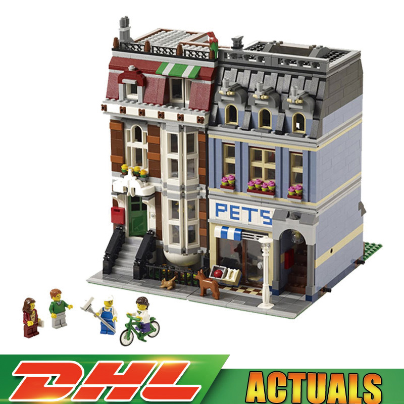 2018 New LEPIN 15009 Pet Shop Supermarket Model City Street Building Blocks Compatible Legoings 10218 Toys For Children gifts lepin 15009 pet shop supermarket model city street building blocks compatible 10218 toys for children