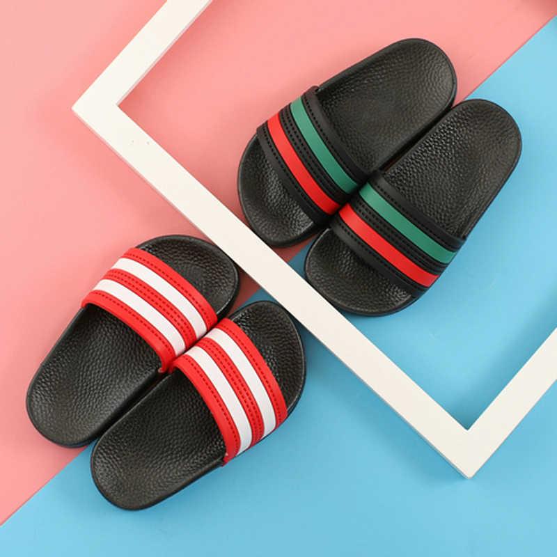 ฤดูร้อนใหม่ 2019 เด็กชายหาดเด็กแฟชั่นรองเท้าสบายๆรองเท้าแตะเด็กนุ่มยี่ห้อสไลด์ชายสีดำรองเท้า