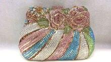 Freies verschiffen!! A15-50, bunte farbe mode top kristallsteinen ring handtaschen für damen nette parteibeutel