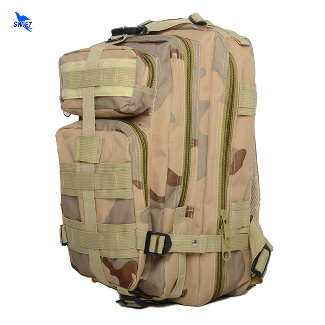 Top Quality Waterproof Men Women 3P Military Tactical Outdoor Backpack Large Capacity Camping Hiking Climbing Travel Camo Bags
