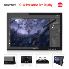Promotion New GAOMON G190 19 Inches Interactive Pen Display LCD Touch Sreen Monitors Graphic Drawing Digital Tablet Monitors(China (Mainland))
