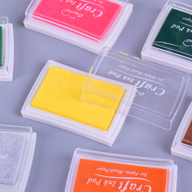 5.2*7.2cm Square Pure Color Color Ink Pad Mini Sponge DIY Stamp Ink Pad Stationery School Supplies