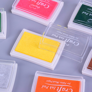 5.2*7.2cm Square Pure color color ink pad mini sponge DIY stamp ink pad stationery school supplies(China)