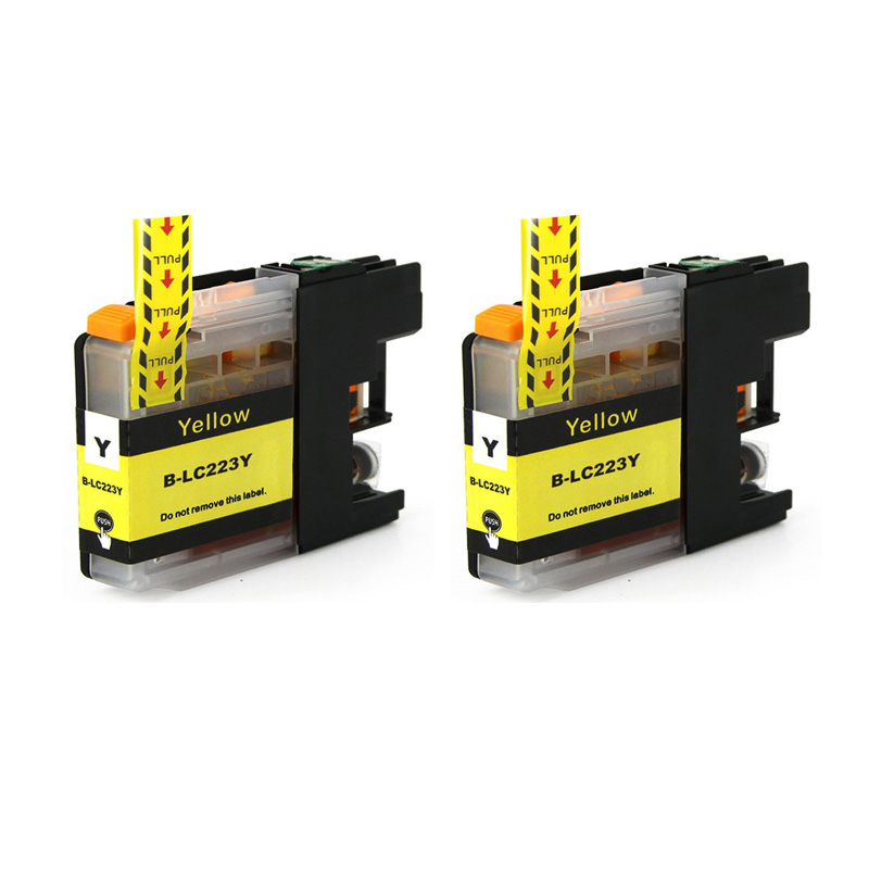 2 картриджа с желтыми чернилами для Brother DCP-J4120DW MFC-J5320DW DCP-J562DW MFC-J880DW MFC-J5620DW MFC-J680DW