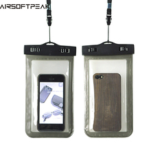 AIRSOFTPEAK 100% Waterproof Bag Case Pouch Dust Proof Underwater Pack Cover Case For Phone Travel Running Swimming Pouch