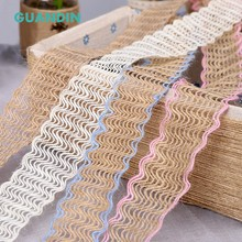 GUANDIN,New 2Yard/Piecs Decoration Belt,DIY Handmade/Wedding Party/Crafts&Gift Packing Decoration Material Linen Lace Ribbon(China)