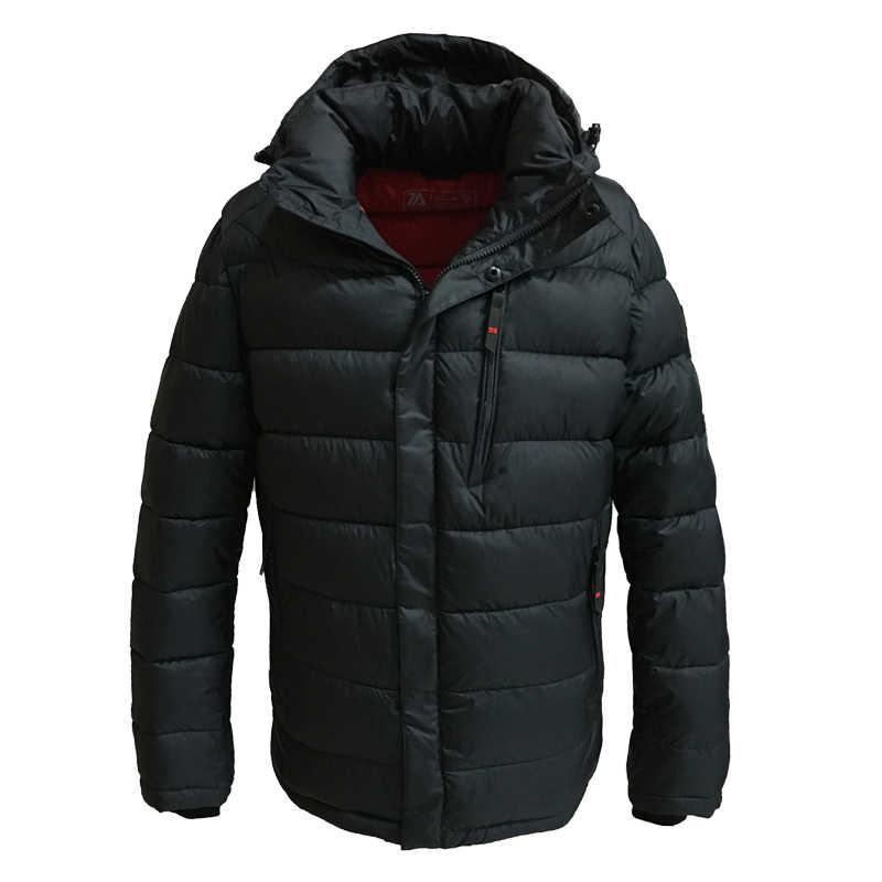 TALIFECK 2019 新着カジュアル暖かい暖かい生き抜く冬のジャケットの男性サイズ M-3XL 高品質メンズコート帽子着脱式 polyest