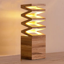 Characteristics of Creative Art Cafe living room bedroom bedside lamp decorative of wood hand LED small table lamp MZ53(China)