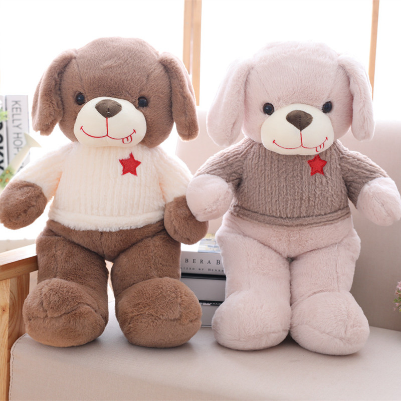 1pc 50cm Lovely Single Dog Plush Toys Staffed Soft Animal Puppy Dog Doll Kawaii Gift for Kids Baby Christmas Gift Funny Present