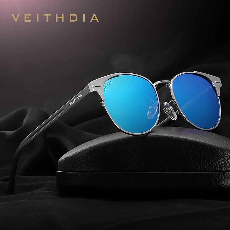 VEITHDIA Unisex Retro font b Aluminum b font Sunglasses Men Polarized Lens Vintage font b Eyewear