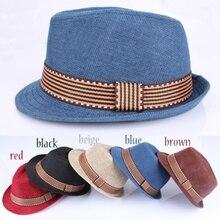 Otoño niños niñas sombrero niños moda Solid Sun sombreros gorras niño Jazz  británico ... c95909f93e8