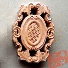 Madera dongyang madera tallado esquinas de moda aplique puerta de madera maciza muebles de flores cama 21x14