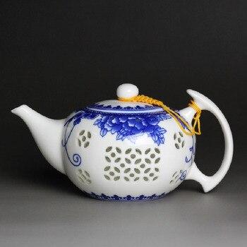 Цзиндэчжэнь фарфоровый чайник керамика кунг-фу большой емкости синий и белый чайники 500 мл