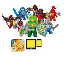 8pcs/Set Figures Building Blocks Sets china brand New JR802 NEXO knight melo 2.0 grams compatible with Lego