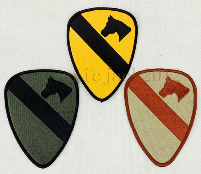 WWI WWII US Army 1st Cavalry Division First Team Patch Three Colors