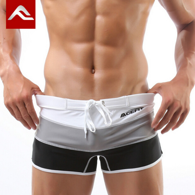 25d2bfb6dd5 ACEFIT Brand Swimming Trunks Swimsuit Man Gay Swimwear Mens Boxer Sexy Bathing  Suit Swiming Shorts For