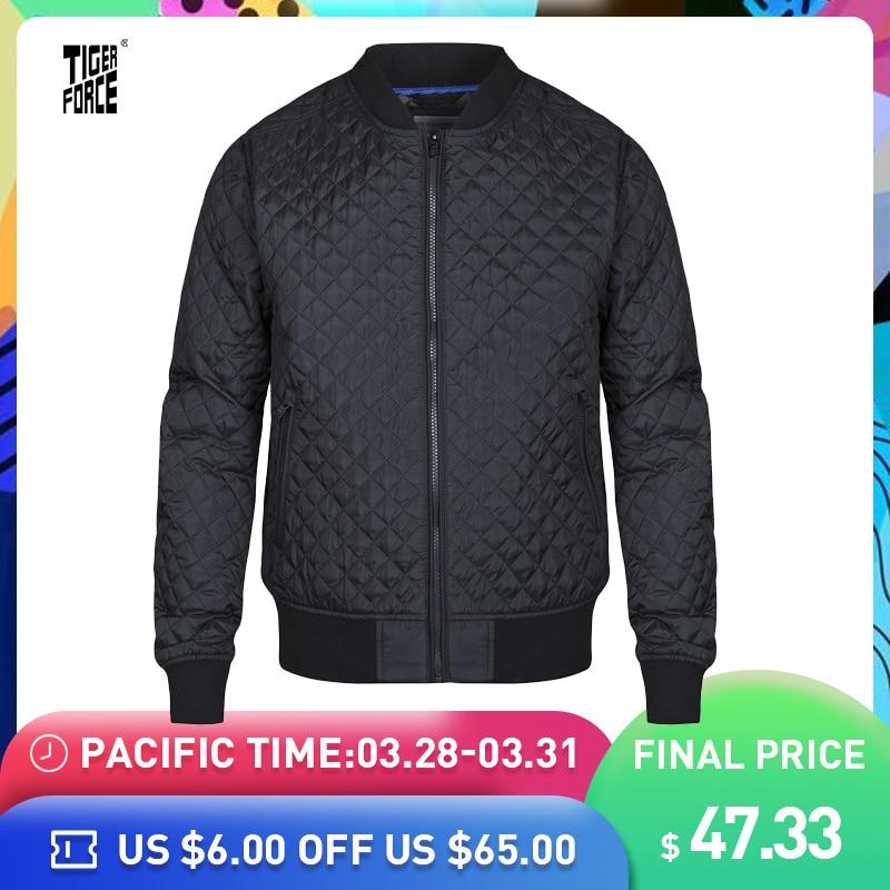 Tiger Force 2019 Argyle blouson bomber pour homme Hommes de veste de printemps Mode Automne Coupe-Vent qualité supérieure Hommes Manteau Survêtement