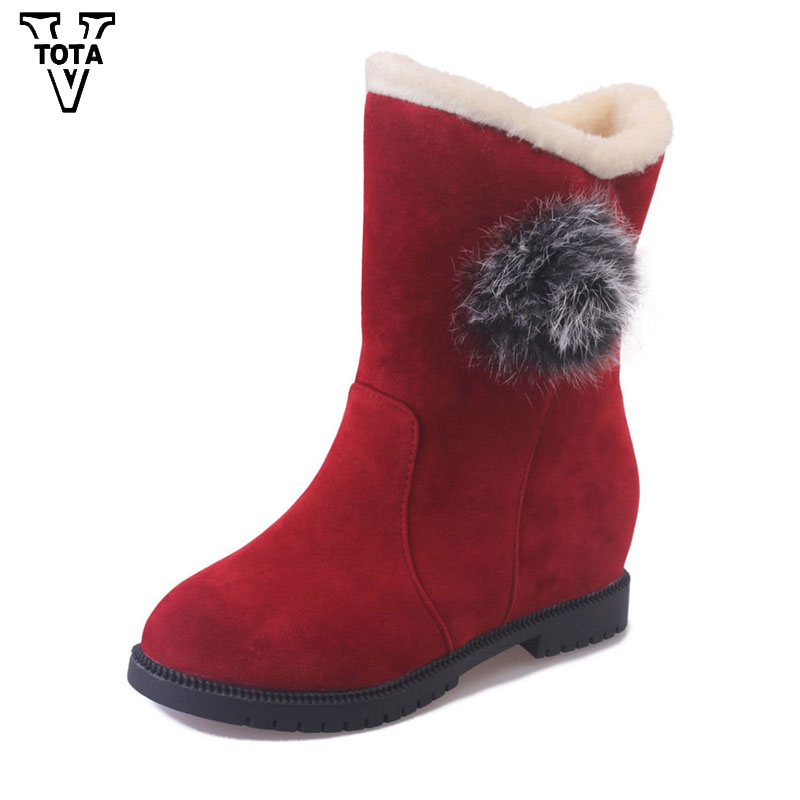 VTOTA Fashion Snow Women Boots platform women winter shoes keeping warm shoes woman Flat Botas Mujer Ankle Boots Round Toe E21 flat with bow ankle boots shoes style women boots round toe platform snow boots for women fashion flock short outdoor shoes
