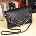 Moda rebite saco crossbody bolsas de luxo mulheres sacos de noite designer de cadeia bolsa de ombro messenger bags famosa marca de embreagem do crânio