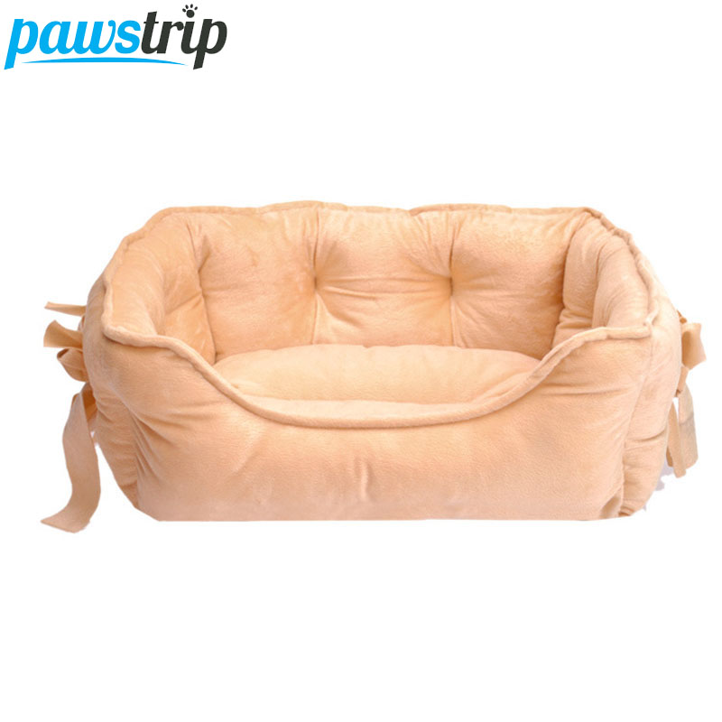 4 colores Bow Princess Princess Dog Bed Soft Fleece Cat House Winter Warm Small Puppy Bed Para Chihuahua S / L