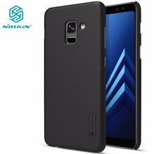NILLKIN Super Frosted Shield hard back cover case for Samsung Galaxy A8 2018 / A8 Plus 2018 with free screen protector