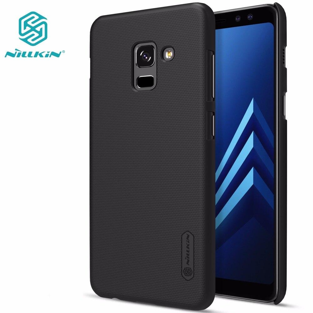 NILLKIN Super givré bouclier dur couverture arrière étui pour samsung Galaxy A8 2018/A8 Plus 2018