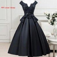 New Original Design Elegant Cocktail Dress Lace Up Evening Party Gowns Short Dresses Vestido De Festa Curto Plus size S360