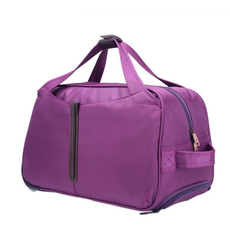 Hand Luggage Trolley Travel Bag Waterproof Oxford Suitcase Bags On Wheels Unisex Rolling Duffle Bag