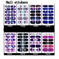 Colorful Star Fashion Nail Stickers Self adhesive nail sticker for beautiful weman free shipping
