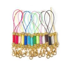 10pcs Lobster Clasp Lanyard Strap Cord mobile Phone Lariat Mobile Straps Charm Nylon Key Ring Chain Jewelry Craft DIY Jewelry цены онлайн