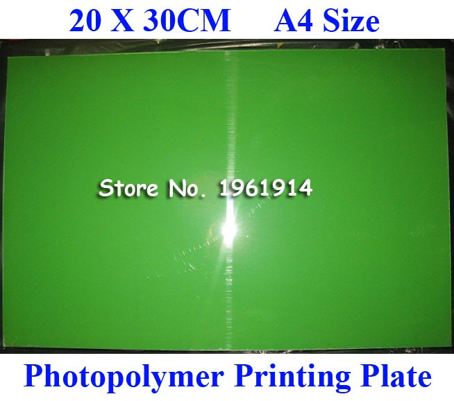 200x300MM A4 Size Water Washable for Pad Printing Hot Foil Stamping CliChe Making UV Exposure Photopolymer Printing Plate Mold cnc control amp beta isv 20 fanuc servo amplifier a06b 6132 h002