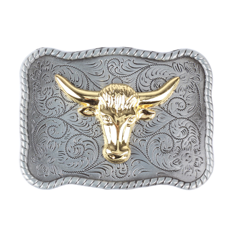 Golden Bull And Pig Belt Buckle Animal Buckle