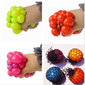 Funny toys5CM Antistress Face Reliever Grape Ball Autism Mood Squeeze Relief Healthy Toys Funny Geek Gadget for Halloween Jokes