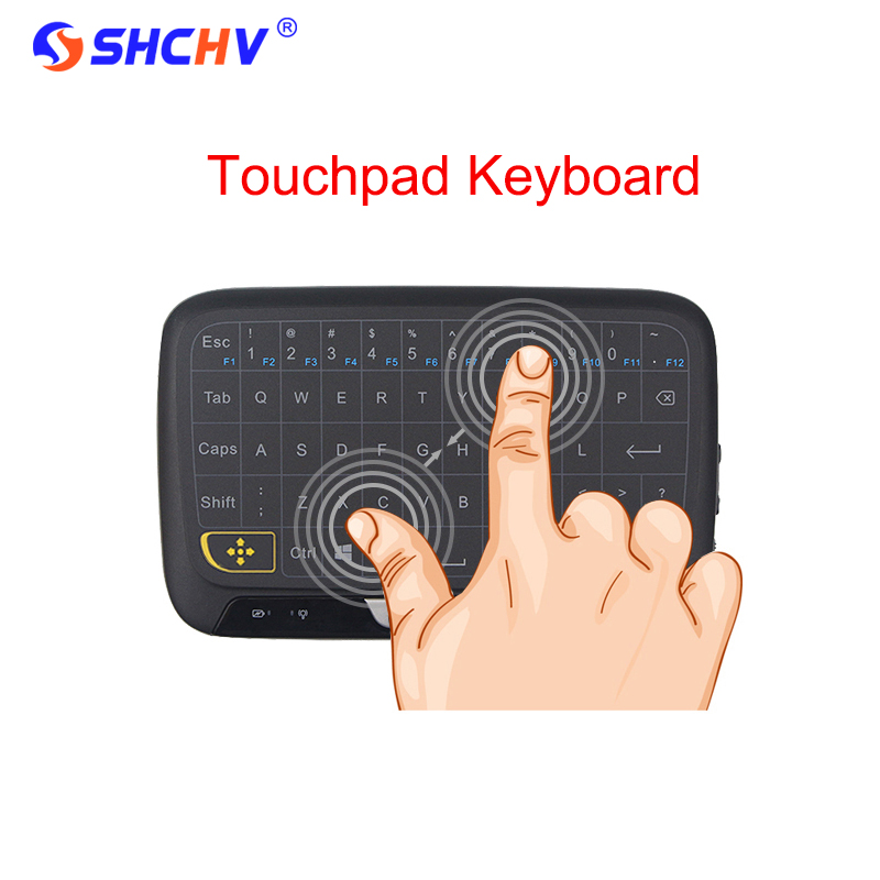 New Full Touch Keyboard 2.4G Wireless Keyboard Large Touchpad Mini Keyboard for Android TV Box Laptop PC Tablet Raspberry Pi 3 neworig keyboard bezel palmrest cover lenovo thinkpad t540p w54 touchpad without fingerprint 04x5544
