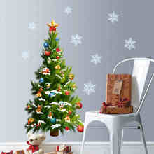Christmas Tree Sticker Xamstree01 Festival Wall Decals Snowflake Removable  Stickers 3d Wall Mural Holiday Wall Decals Arts Part 95
