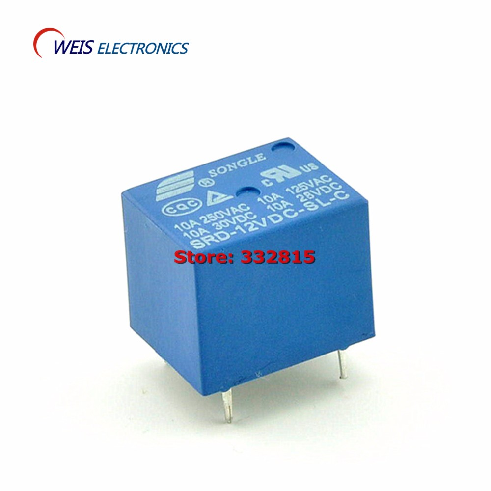 5PCS Solid stat relay 12V 10A 250v SSR 5 feet SRD-12VDC-SL-C T73 DIP 5PIN Free shipping