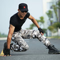 Military  Men Jogger Pants  Cargo Pants Snow Camouflage Tactical Sweatpants Scratch resistant Wearproof Handsome