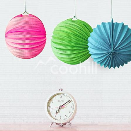 Captivating 25cm Accordion Pleated Paper Lanterns Watermelon Lantern Wedding Party  Birthday Baby Shower Home Yard Garden Decor Hanging Ball In Lanterns From  Home ... Awesome Ideas