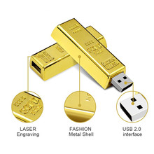 2017 newest design wedding gifts 4GB 8GB 16GB usb 2.0 bullion usb memory stick gold bar usb flash drive