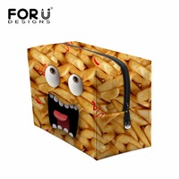 FORUDESIGNS New Fashion Daily Women Makeup Bags Cute Emoji Organizer Necessaire For Ladies College Students Travel