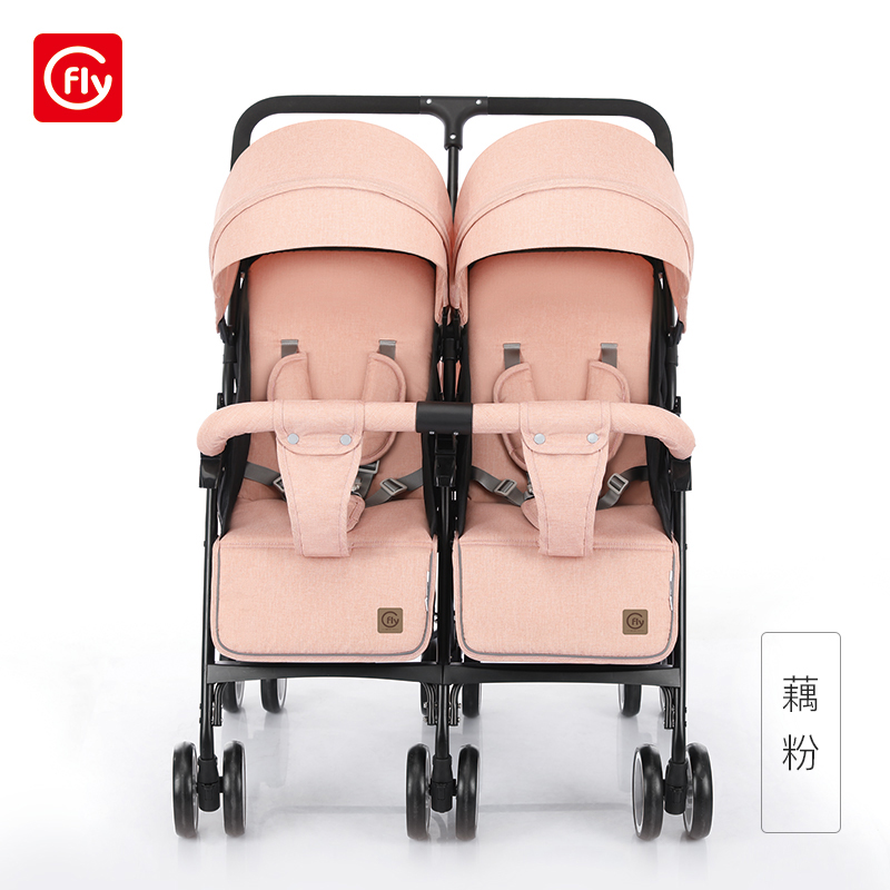 Twin Baby Stroller Light Can Sit Lie Big Treasure Cart Folding Shock Absorber Second Child Artifact Double Baby Stroller